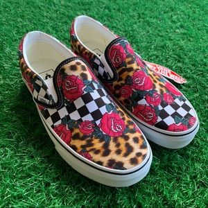 Vans Classic Slip On Rose Checkerboard